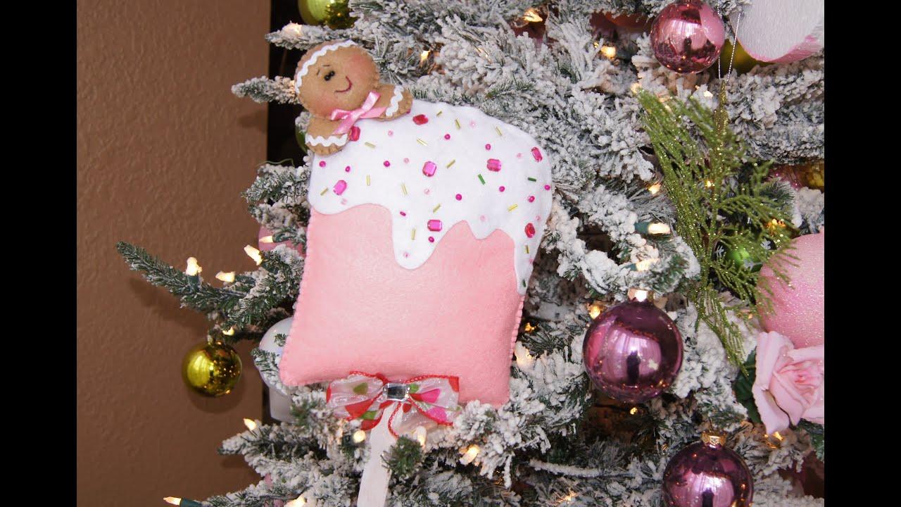 Adorno navide o en fieltro colgante para el rbol de - Tutorial arbol de navidad ...