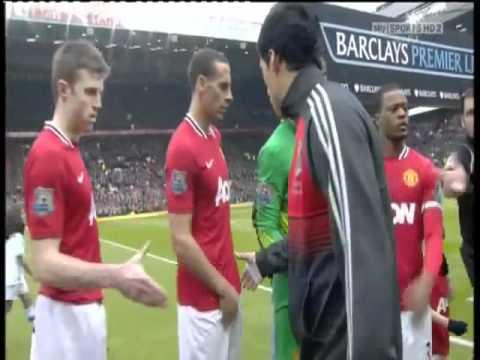 Luis Suarez Refuse To Shake Hands With Luiz Suarez Patrice Evra Ferdinand Refusal