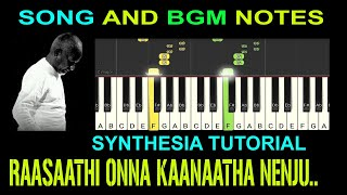 raasaathi onna song and bgm notes / synthesia tutorial / my music master
