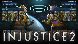 Injustice 2: Ninja Turtles FULL Gameplay Breakdown w/ Raphael, Leonardo, Donatello & Michelangelo!