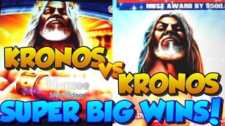 ★SUPER BIG WINS!!★ KRONOS Versus KRONOS Slot Machine Battle ★ TwinStar and G+ Deluxe
