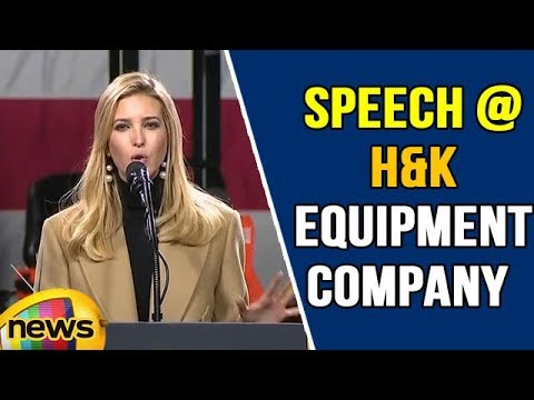 Ivanka Grabs All The Attention with Speech at H&K equipment company in Pennsylvania | Mango News