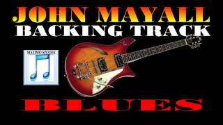 BLUES, JOHN MAYALL STYLE BACKING TRACK GUITAR, HARMONICA, C F G
