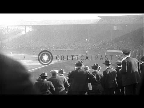 Game 1 of the 1916 Baseball World Series - Boston Red Sox versus Brooklyn Robins ...HD Stock Footage