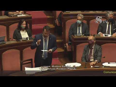 Salvini a Conte: 'Mente agli italiani, non esiste emergenza' (28.07.20)