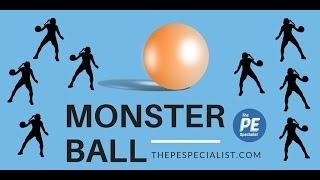 PE Games - Monster Ball - Fun throwing activity for Phys Ed