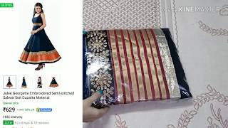 Flipkart Affordable Semi Stitched Anarkali Suit