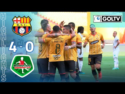 Barcelona SC Mushuc Runa Goals And Highlights