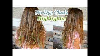 No-Dye Chalk Highlights | Easy Hair Color | Cute Girls Hairstyles