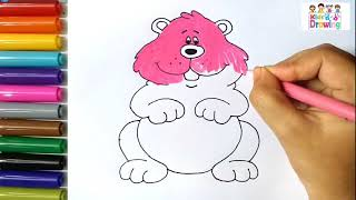 How to draw small groundhog/coloring page for kid