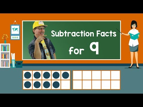 Practice Our Subtraction Facts for 9 | Subtraction Song | Math Song for Kids | Jack Hartmann