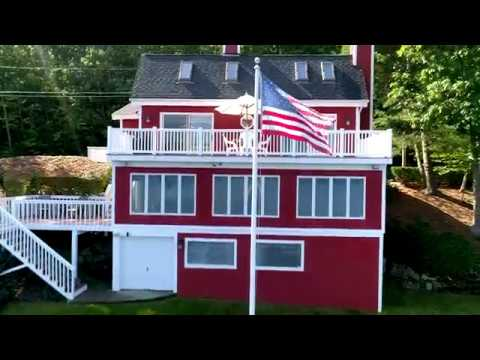Meredith NH Waterfront Home. Private Sandy Beach and Easy Access to Meredith Amenities.