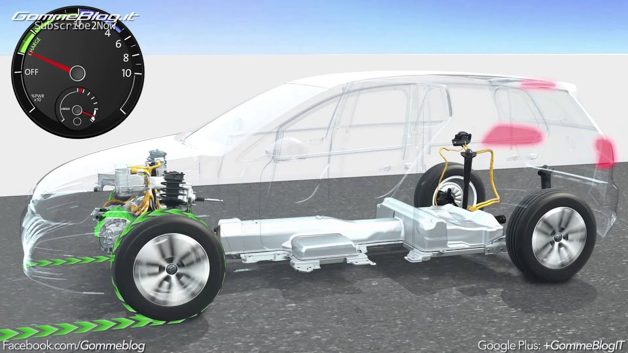 Volkswagen Electric Mobility: Animation Regenerative Braking - YouTube