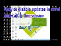 how to disable updates in corel draw x7 in hindi