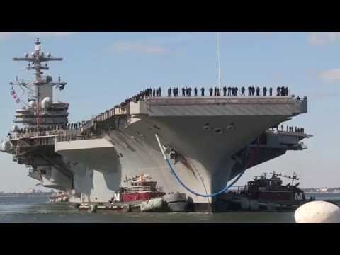 USS George H.W. Bush (CVN 77) homecoming from Norfolk, Va. Part 1.
