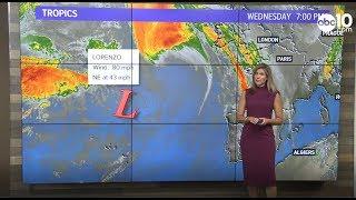 Hurricane Lorenzo heads towards Ireland and Great Britain