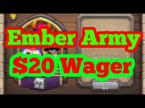 Ember Army $20 Wager | Castle Clash