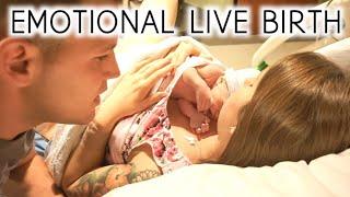EMOTIONAL LIVE BIRTH VLOG | LABOR AND DELIVERY VLOG | Erika Ann