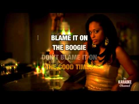 Blame It On The Boogie in the style of The Jacksons | Karaoke with Lyrics