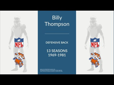 Billy Thompson: Football Defensive Back
