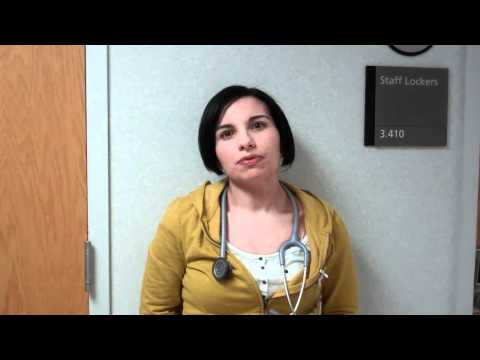 Krista Hamilton L&M RN answers questions from Backus Nurses