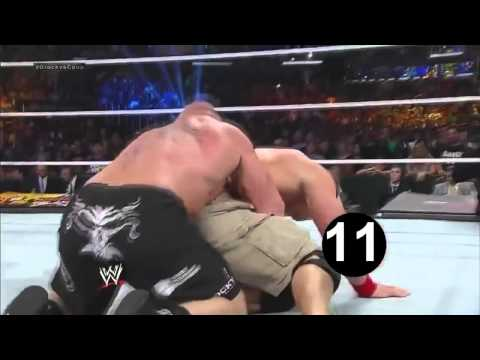 Brock Lesnar 15 Devastating German Suplex to John Cena