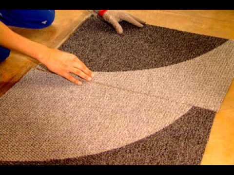 colocação ou instalação de carpete