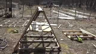 Building A Tiny Chicken House On Wheels Out Of Free Pallets
