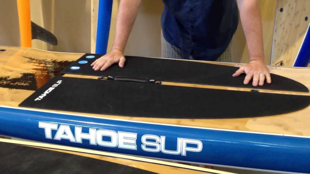 Stand Up Paddle Boards >> stand up paddle board review 2013 tahoe sup zephyr bamboo touring board - YouTube