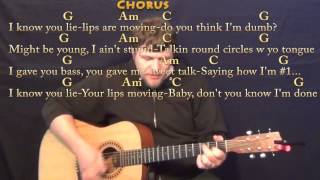 Lips Are Movin (Meghan Trainor) Strum Guitar Cover Lesson with Chords/Lyrics