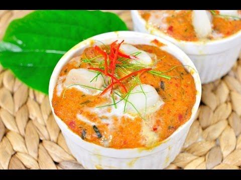 ห่อหมกปลาดอลลี่ Thai Steamed Curried Dory Fish