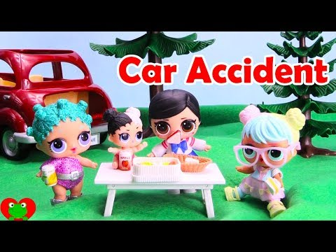 LOL Surprise Dolls Picnic Car Accident