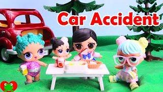 LOL Surprise Dolls Picnic Car Accident
