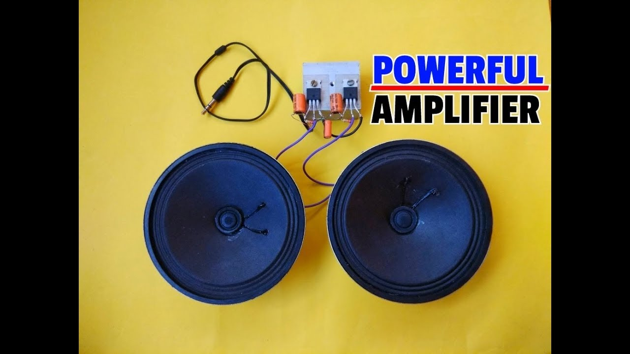 How To Make Stereo Amplifier Circuit By Using Mosfet  Simple Mosfet  Amplifier