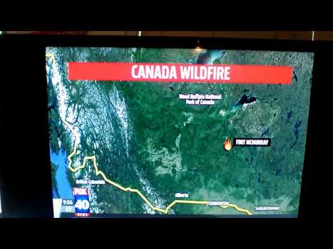 Huge Canada wild fire at oil area