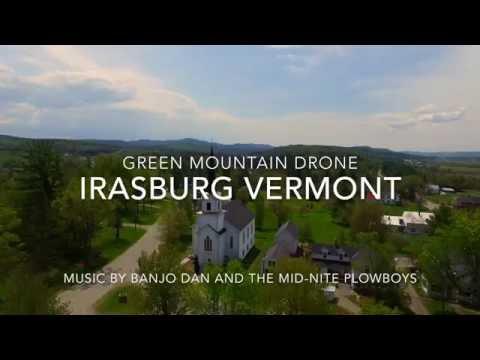 Irasburg VT - A Flight Over the Town Green - 4K HD - Green Mountain Drone