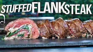 THE BEST FLANK STEAK RECIPE - STUFFED, ROLLED & GRILLED!   SAM THE COOKING GUY 4K