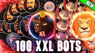 AGMA.IO 100XXL BOTS - Solo TRICKPOP *NEW TRICK!* - Powerup King!