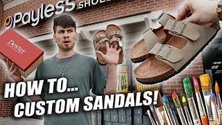 Customizing $15 Payless Sneakers | How to Paint Sandals Tutorial!