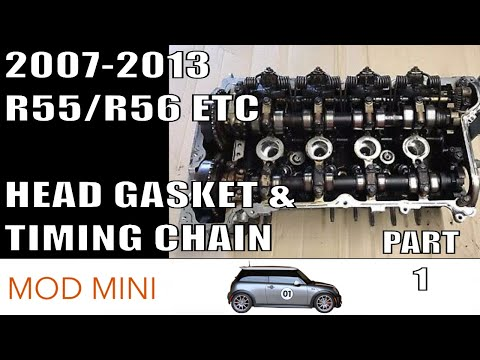 How to Replace Head Gasket & Timing Chain - 2007-2013 R56 MINI Cooper non-S Part 1