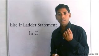 Else If Ladder Statement in C (HINDI)