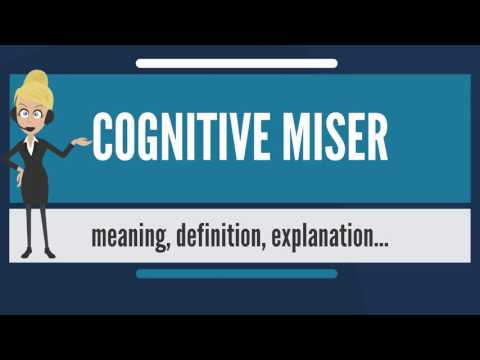 What is COGNITIVE MISER? What does COGNITIVE MISER mean? COGNITIVE MISER meaning & explanation