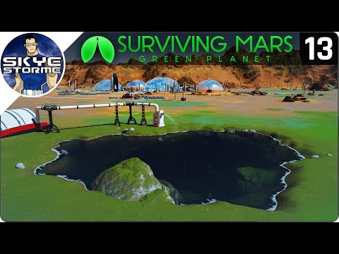 GRASS, BUSHES, LAKES And RAIN! - Surviving Mars Green Planet EP 13 - Gameplay & Tips