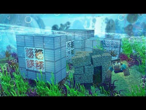 Minecraft   SEARCHING AN UNDERWATER BASE! (Underwater Treasure Hunt Challenge)