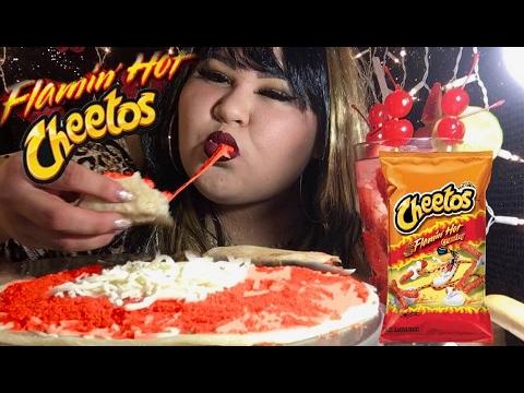 Hot Cheetos Quesadilla/ MUKBANG @Wendy's Eating Show
