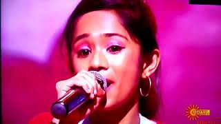 Gayathri singing heart anno addadalli in udaya singer junior