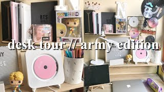 updated desk tour (army edition) || indonesia [eng cc]