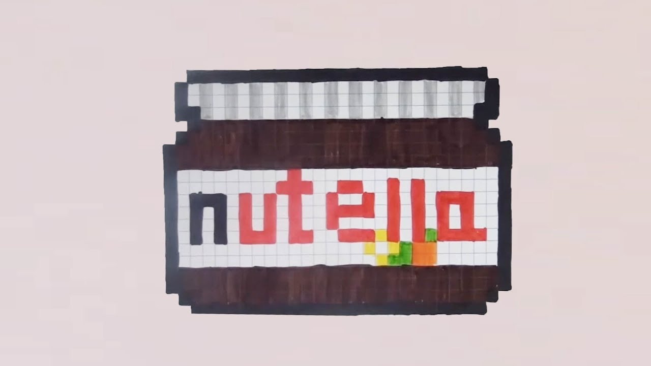 Comment Dessiner Un Pot De Nutella Pixel Art