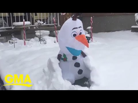 Snowman-Olaf-comes-to-life-after-being-buried-under-the-snow