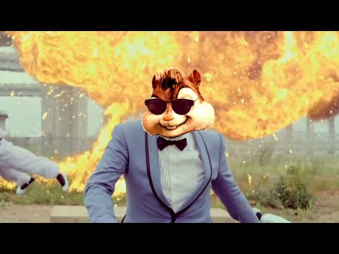 PSY  GANGNAM STYLE강남스타일 MV ALVIN AND THE CHIPMUNKS